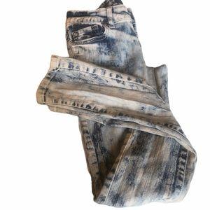 Miley Cyrus Max Azria  Acid Wash Skinny Jeans